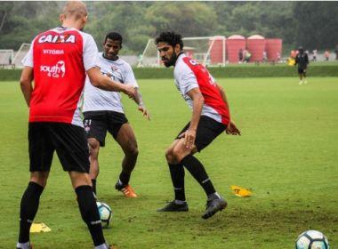 Vitória faz único treino antes de pegar o Atlético-PR