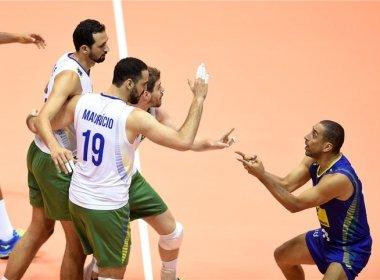 Brasil atropela a Bulgária e vence mais uma na Liga Mundial