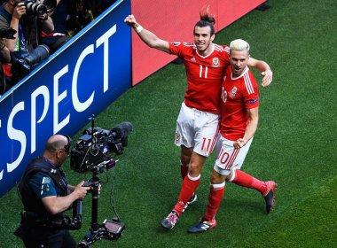 Gol contra coloca País de Gales nas quartas de final da Eurocopa