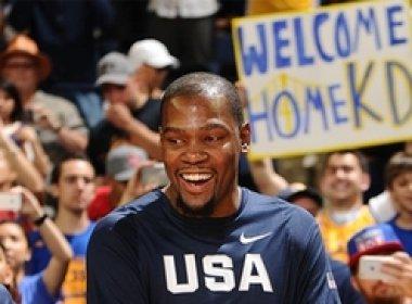 Em 1º jogo de Durant na nova casa, EUA massacram a China em amistoso