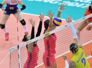 Brasil perde para a China na estreia na fase final do Grand Prix