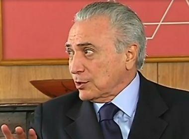 Temer diz na TV que vai respeitar decisão sobre Cristiane Brasil