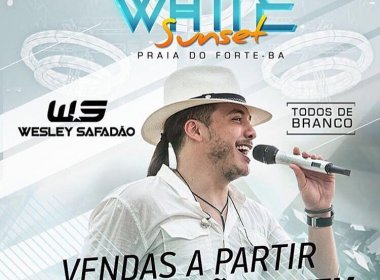 Promovida por Wesley Safadão, festa 'Garota White' inicia venda de ingressos