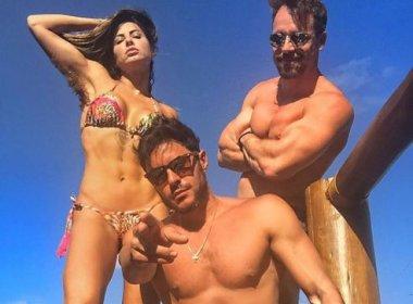 Alinne Rosa curte férias com Ricardo Tozzi e fãs comentam:'tá pegando?'