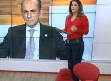 Christiane Pelajo dá 'barrigada'e bate boca ao vivo com ministro da saúde na Globo News