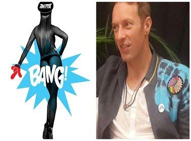 'Só deu para ver o bumbum dela', diz vocalista do Coldplay sobre 'Bang' de Anitta