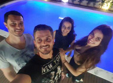 Ex-BBB Marcos Harter janta com Miss Sorisso e modelo recebe críticas de fãs 'Maylli'