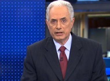 William Waack passa bem após cateterismo e deve retornar ao 'Jornal da Globo' na segunda