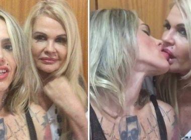 Monique Evans é chamada de 'velha nojenta' depois de postar vídeo beijando a esposa