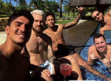 Neymar, Medina e Lucas Lima chegam à Bahia para celebrar Réveillon