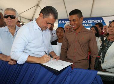 América Dourada: Rui Costa inaugura trecho da BA-052 e assina convênio do Bahia Produtiva