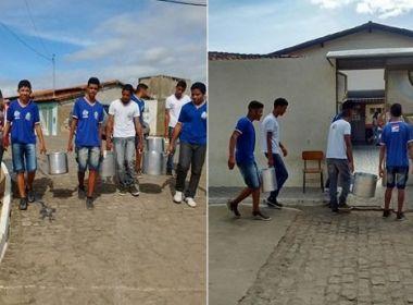 Irajuba: Estudantes carregam água para escola para não sentirem sede