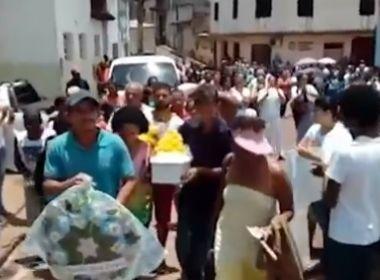 Ituberá: Família de bebê morto faz protesto e acusa negligência de hospital