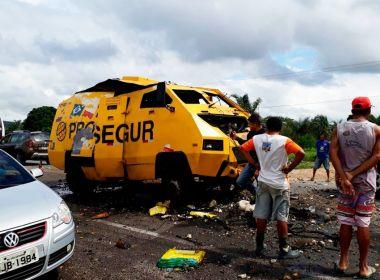 OUTRO CARRO FORTE É EXPLODIDO NA BR-324 EM JACOBINA.