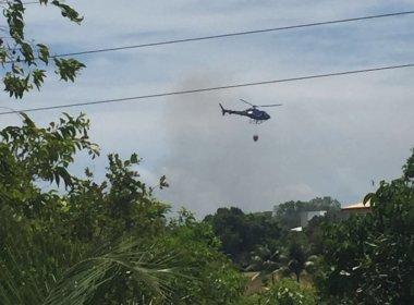Incêndio próximo a condomínio em Itacimirim deixa moradores assustados