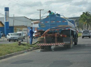 Falta de água atinge Vitória da Conquista e bairros são abastecidos por carros pipa