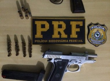 Itaberaba: Dois homens são presos com armas de fogo na BR 242