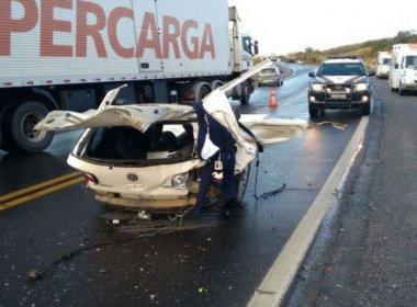 Cândido Sales: Três morrem e dois ficam feridos em batida na BR-116