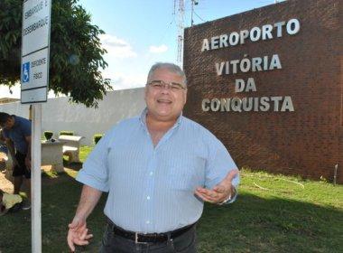 Com aeroporto fechado, Lúcio Vieira Lima reclama ao não conseguir pousar em Conquista