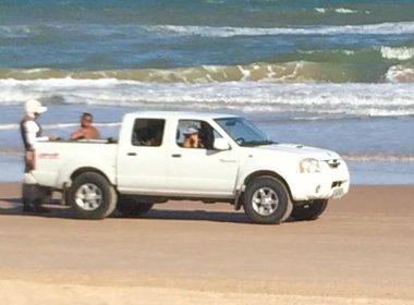 Litoral Norte: PM faz ação em Massarandupió contra ação de veículos em praias
