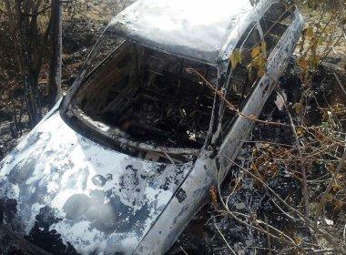 Recôncavo: Dois corpos são achados carbonizados dentro de carro na BR-101