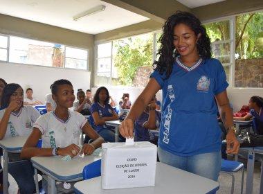 Alunos da rede estadual da Bahia escolhem líderes de classe