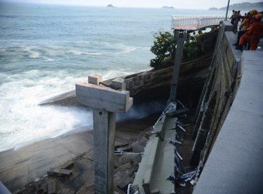 Vídeo mostra momento em que ciclovia do Rio de Janeiro desaba; assista