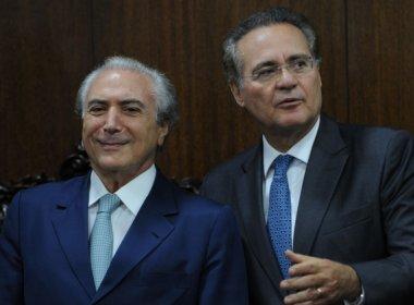 Às vésperas do impeachment, Temer se reúne com Calheiros