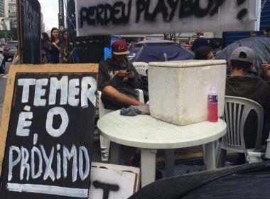Manifestantes dizem que vão ficar acampados perto da Fiesp até saída de Temer