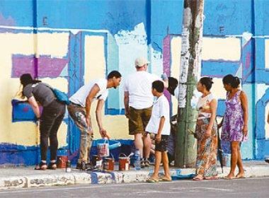 Grafiteitos baianos e norte-americanos dão vida a muro em Castelo Branco