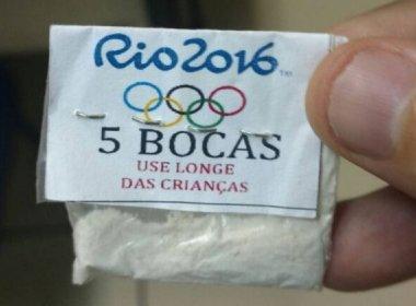 Traficantes vendem cocaína no Rio com logotipo dos Jogos Olímpicos
