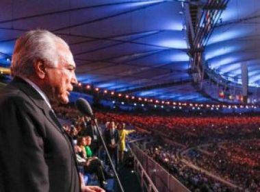Temer é vaiado durante cerimônia de abertura da Olimpíada; interino não foi anunciado no evento
