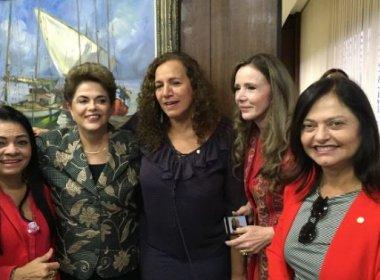 Candidatas a prefeituras baianas acompanham pronunciamento de Dilma no Senado
