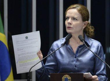 Gleisi admite que pediu varredura da polícia em sua casa: 'Não configura obstrução'