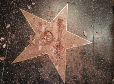 Estrela de Donald Trump na calçada da fama de Hollywood é alvo de vandalismo