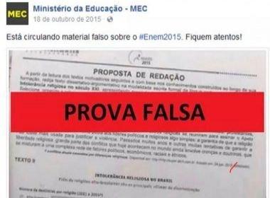 Inep defende Enem e diz que coincidência com redação falsa não interfere em exame
