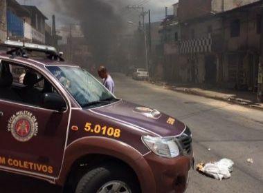 Criminosos incendeiam ônibus na Via Regional; policiamento é reforçado no local