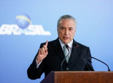 Temer chega em Portugal para velório do ex-presidente Mário Soares
