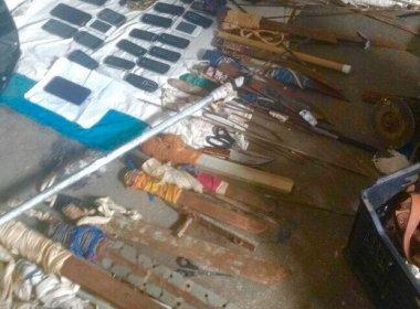 Força-tarefa apreende armas após vistoria em Alcaçuz