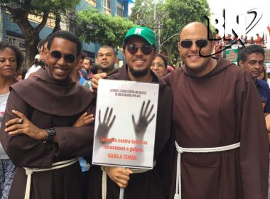 Frei manifesta contra Reforma da Previdência no Campo Grande: 'A favor da vida'