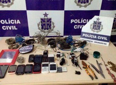 Polícia apreende droga, celulares e alicates na carceragem da Delegacia de Brumado