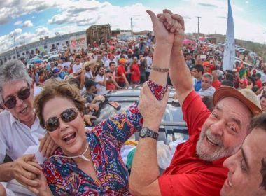 Com Dilma, Lula 'inaugura' obra na Paraíba e fala sobre 2018: 'se eu for é para ganhar'