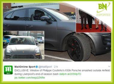 Destaque em Esportes: Carro de Coutinho é atacado por suposta transferência