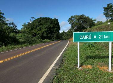 Rodovia entre Cairu e Nilo Peçanha é recuperada; obra custou R$ 8,5 milhões