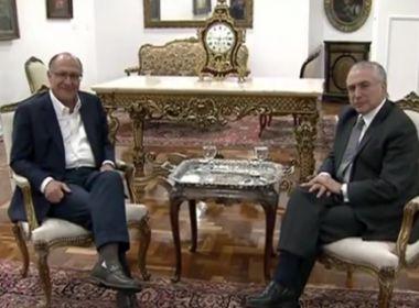 Em encontro, Alckmin defende apoio do PSDB a reformas; Temer faz 'desabafo'