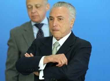 Mais de 82% dos brasileiros querem a renúncia do presidente Michel Temer, diz pesquisa