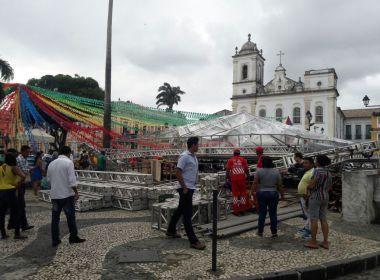 Prefeitura libera espaço onde palco desabou no Terreiro de Jesus