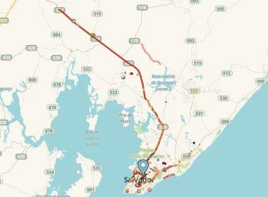 Em saída para São João, BR-324 apresenta 80 km de fluxo intenso