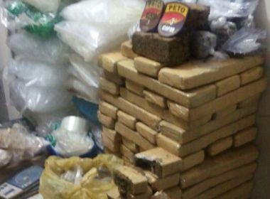 Polícia encontra 35 kg de drogas e munições para fuzil enterrados em Cajazeiras