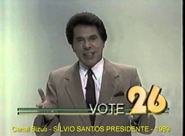 Silvio Santos diz que candidatura em 1989 foi por 'vaidade pura', aponta coluna